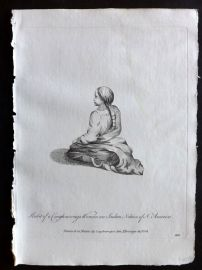 Jefferys 1772 Costume Print. Coughnowaga Woman an Indian Nation of North America. Canada
